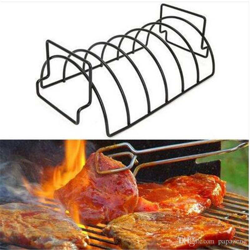 Ventes!!! Non-Stick Métal Fil BBQ Grill Support à Steak Torréfaction Rib rack outil de cuisine outil grill barbecue fournitures Barbecue