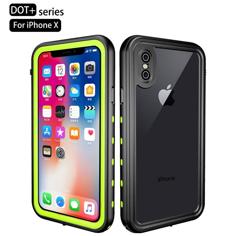 Luxury Waterproof Case For iPhone XR XS Max Clear Soft TPU+PC 360 Full Armor Case For iPhone X S X 10 XSmax Case Fundas Coques (