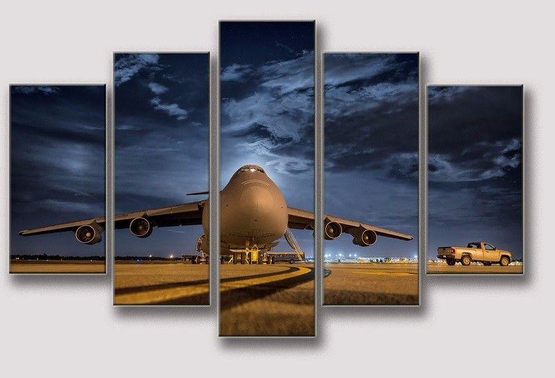 2016 Nuova foto di Jet Flight Aereo Modern Home Wall Poster Pictures Sfondo Pittura a olio Stampe su tela Soggiorno