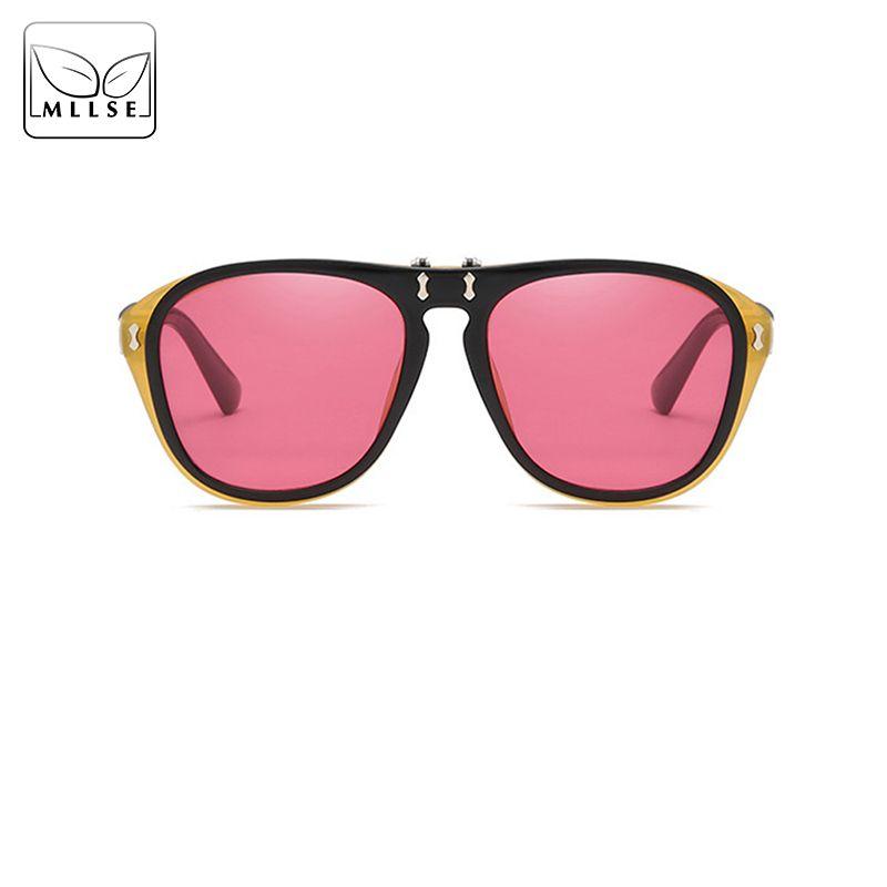 Kadınlar için MLLSE Marka Nötr Güneş Gözlüğü Çerçeve Üzerinde Çevirme Zarif Güneş Gözlükleri Gözlük UV400 Kadın Güneş Gözlüğü
