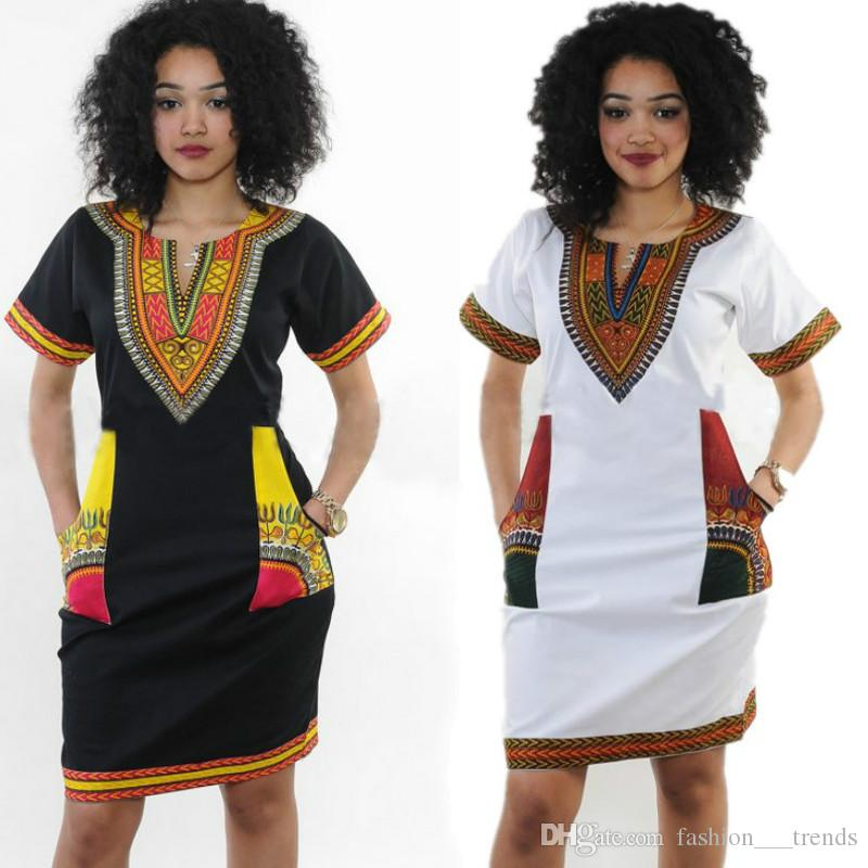 Sexy tight national classical Print dress traditional Women Casual Summer Hippie Dress Sexy Short Sleeve Slim Dress Fabric Femme Robe Femme
