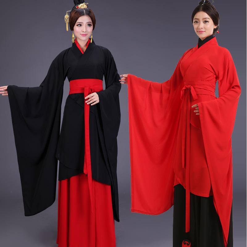 6 шт. китайский традиционный костюм для женщин древний Hanfu одежда косплей Леди элегантный Тан платье костюм для этапа 17