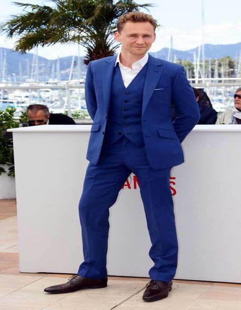 Nouveau Design Notch Collar Royal Blue Men Suits 2018 Vintage Style Italien Meilleurs Tuxedos Hommes Pour Mariages (Veste + Pantalon + Gilet + Cravate)