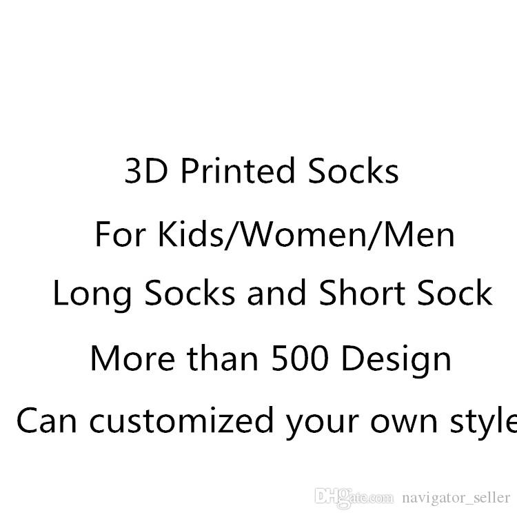 SF-Express DHL Fedex UPS 3D Socken Kinder Erwachsene Frauen Männer Hip Hop Socke 3 Baumwolle Skateboard Socken Gedruckt Unisex Über 500 Stil angepasst