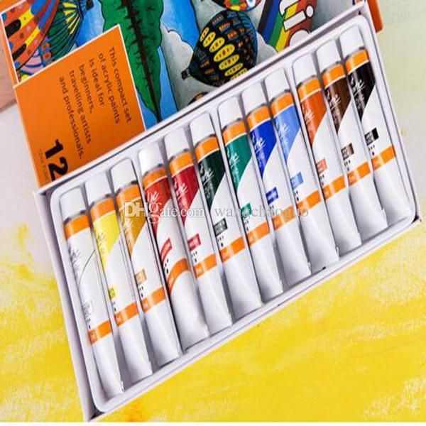 2019 Waterproof 12ml Acrylic Paint Nail Glass Art Painting Paint For Fabric Drawing Tools Prodgf Hidgf Whydgf Kaolal Weibog From Wangchaoguo 18 1