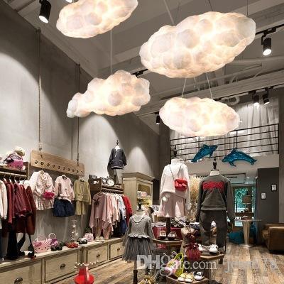 flutuantes nuvens brancas criativo, casa decoração lustre do nuvens luz KTV bar restaurante Art Pendant teto