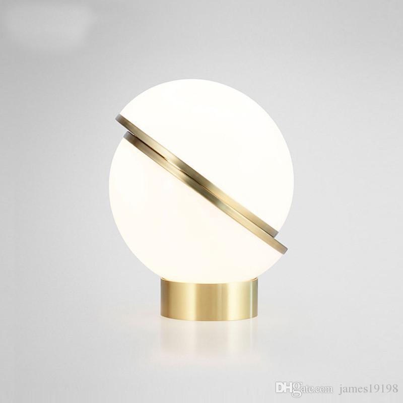 Modern Moon Semi-spherical LED Table Lamp Acrylic Bubble Table Light For bedroom bedside reading Room Home lighting TA005