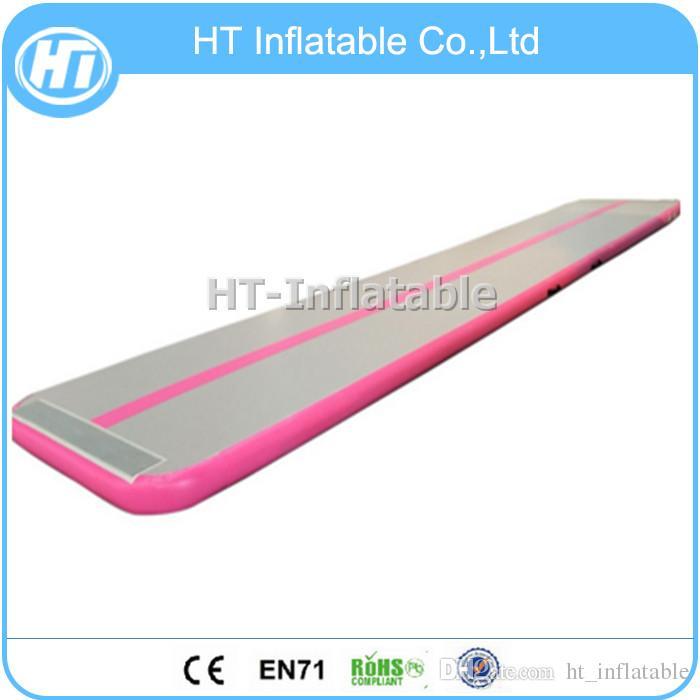 Frete Gratuito 7x1m Novo Design cor Rosa logotipo personalizado pista de queda de ar insuflável a preço barato