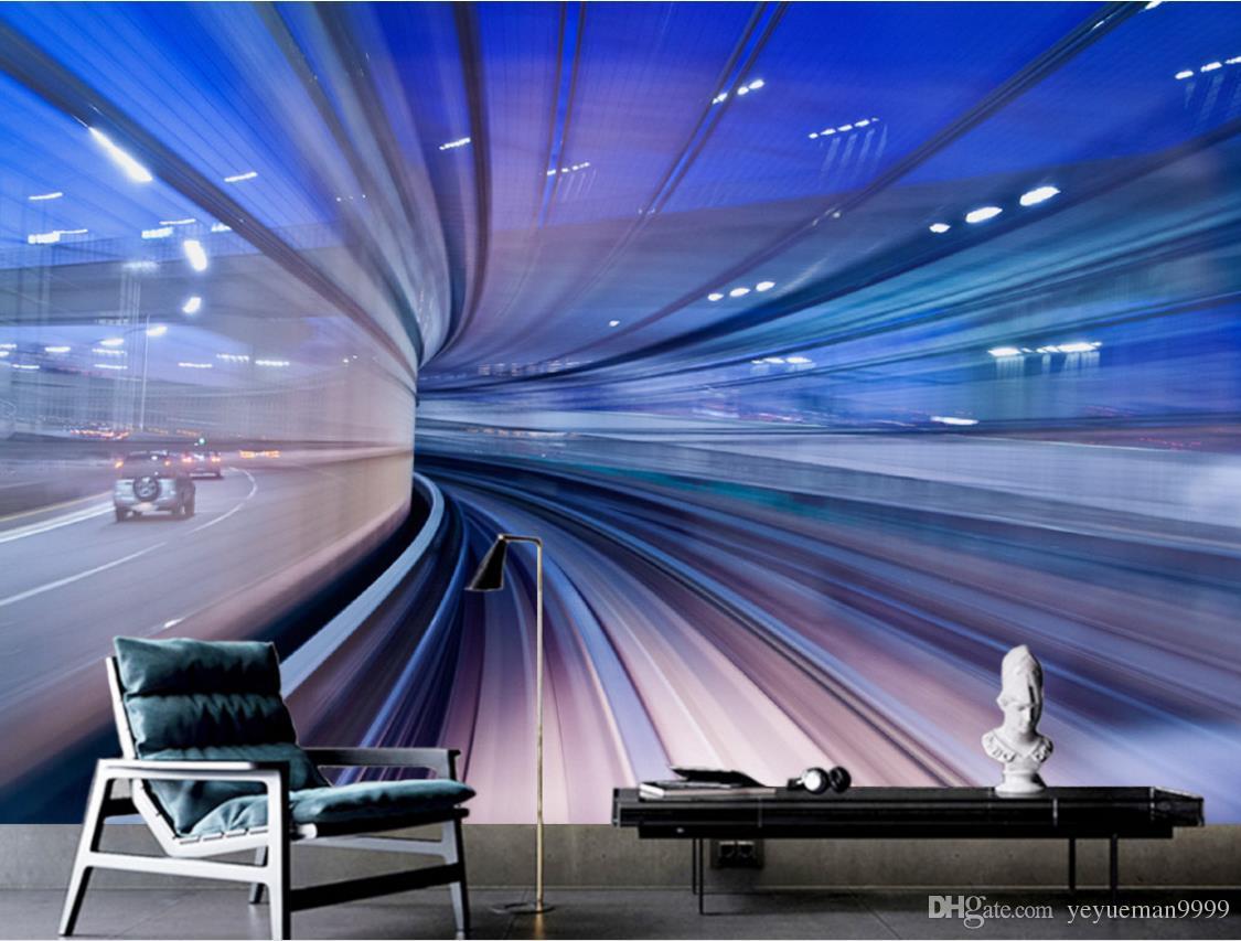 Personalizzato 3d murales foto wallpaper Luce e ombra canale TV sfondo 3d carta da parati soggiorno 3d murale carta da parati