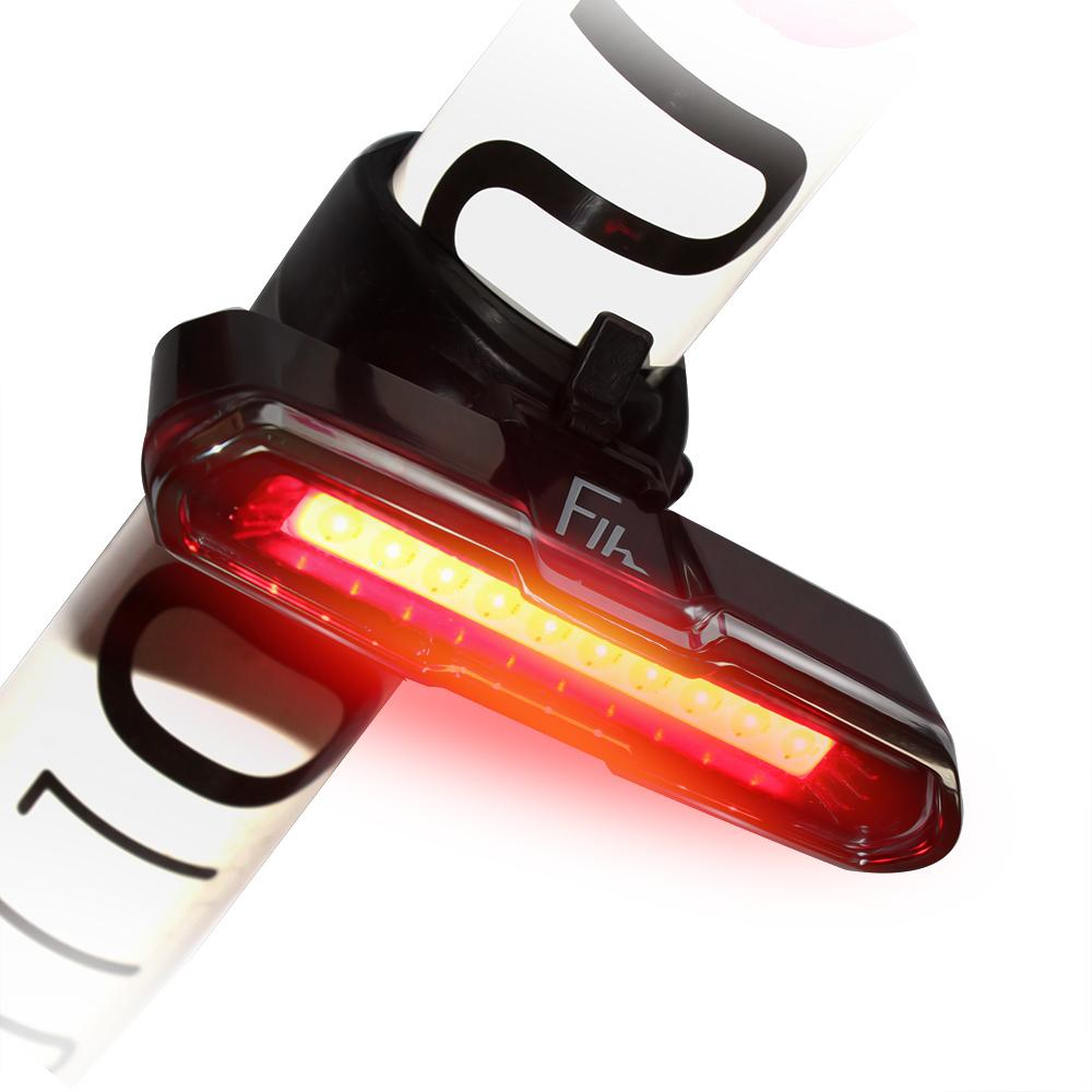 LED Rear Bike Light USB Rechargeable Powerful Safety Waterproof Taillight BB