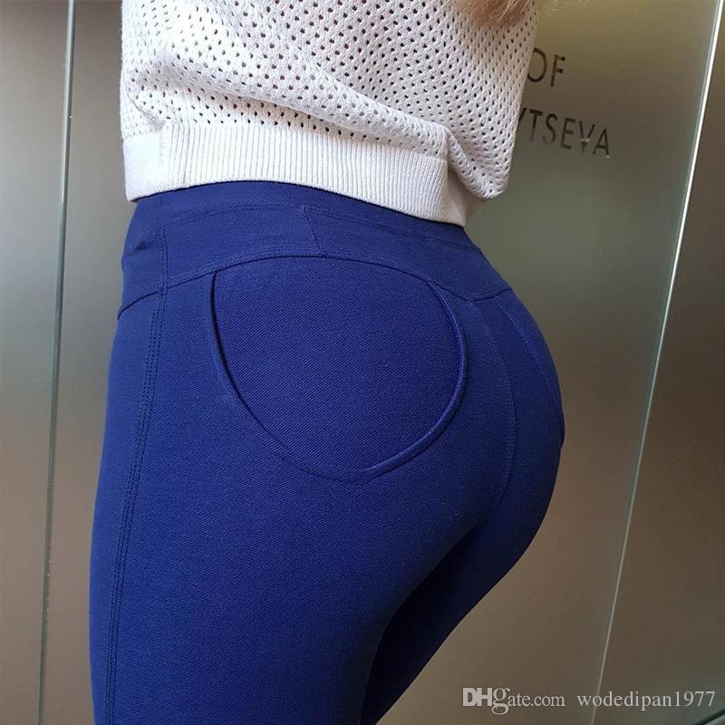 Womens taille haute poche occasionnels d'entraînement leggings minces pantalons pour pantalon de crayon crayon élastique maigre de la mode féminine