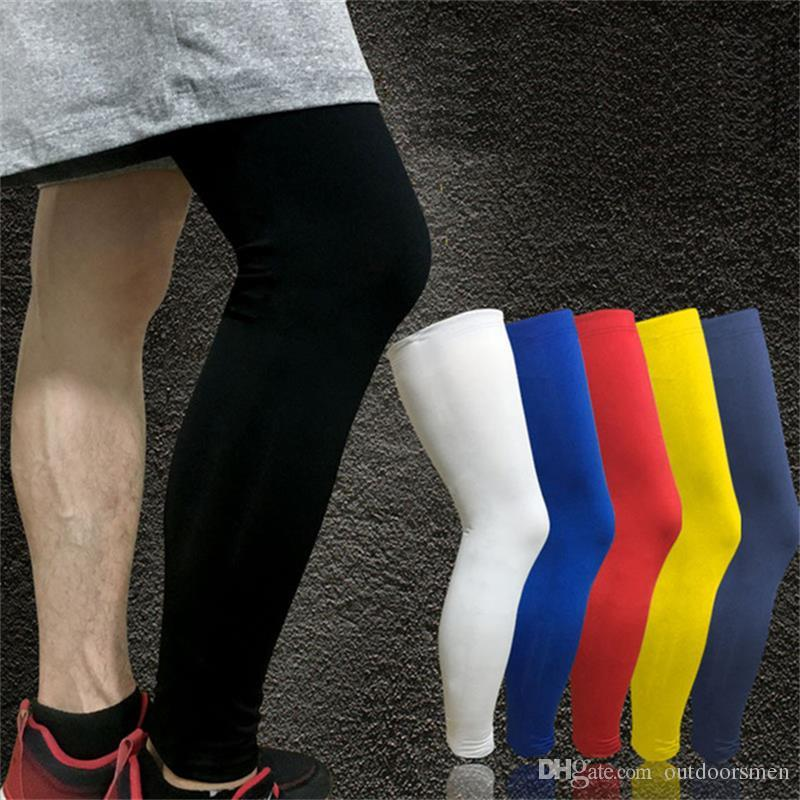 1PCS Professional Basketball Knee Pads Running Fitness Training Long Leg Sleeve Sport Protector Cycling UV Sun Leg Warmers