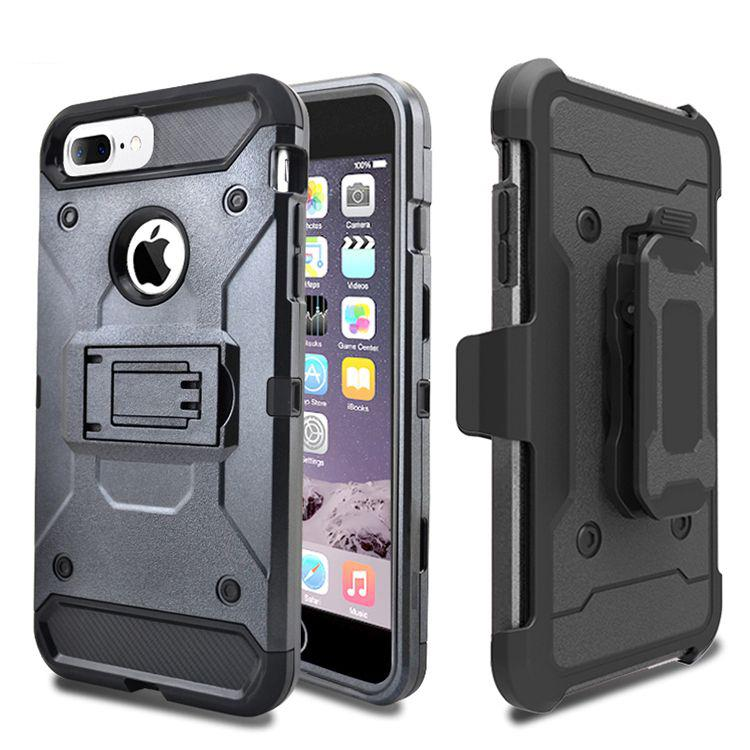 Best selling consumer products kick stand 3 in 1 armor case for iphone 8 case holster