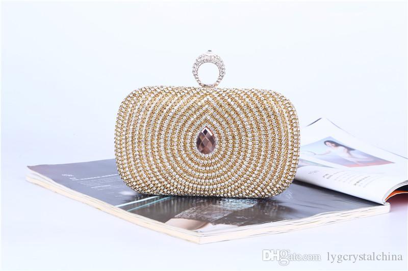 Kristall Abendessen Tasche Qualität Stil Set Diamanten mit Phoenix Auge Handtaschen hochwertige Verarbeitung für Braut und Zofe Abnutzungshandtaschen Handtasche