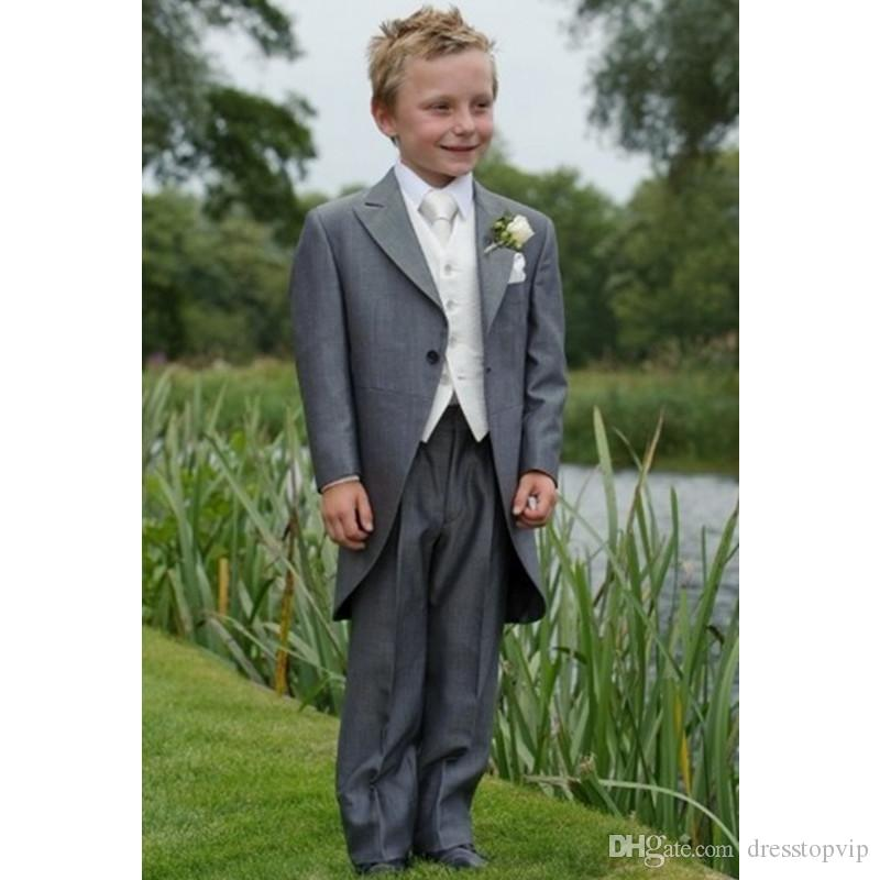 Hot Sale Tailcoats For Boys Suits for Wedding Prom Boy Suits Formal Costumes for Boy Kid Comfortable Children's Blazer(Jacket+Pants+Vest)