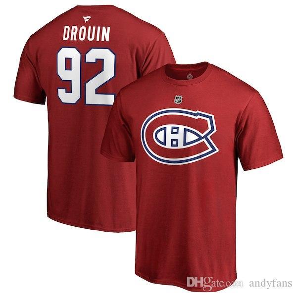 MONTREAL CANADIENS T-SHIRTS Preis Weber Drouin Gallagher Alzner Lehkonen Pacioretty benutzerdefinierten Namen und Nummer Hockey-Shirt