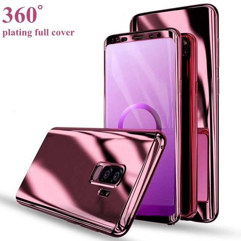 360 Full Cover Plating Spiegel Fall für Samsung Galaxy S9 S8 Plus Note 9 8 harte Schutzhülle für Fälle iphone xs max xr x 7 8 6s plus