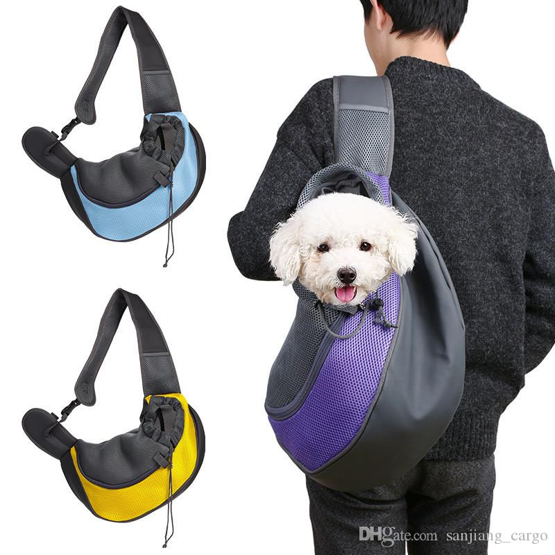 Pet Puppy Dog Cat Carrier Portable Bags Backpack Outdoor Travel Foldable Tote Front Chest Shoulder Bags for Small Pets