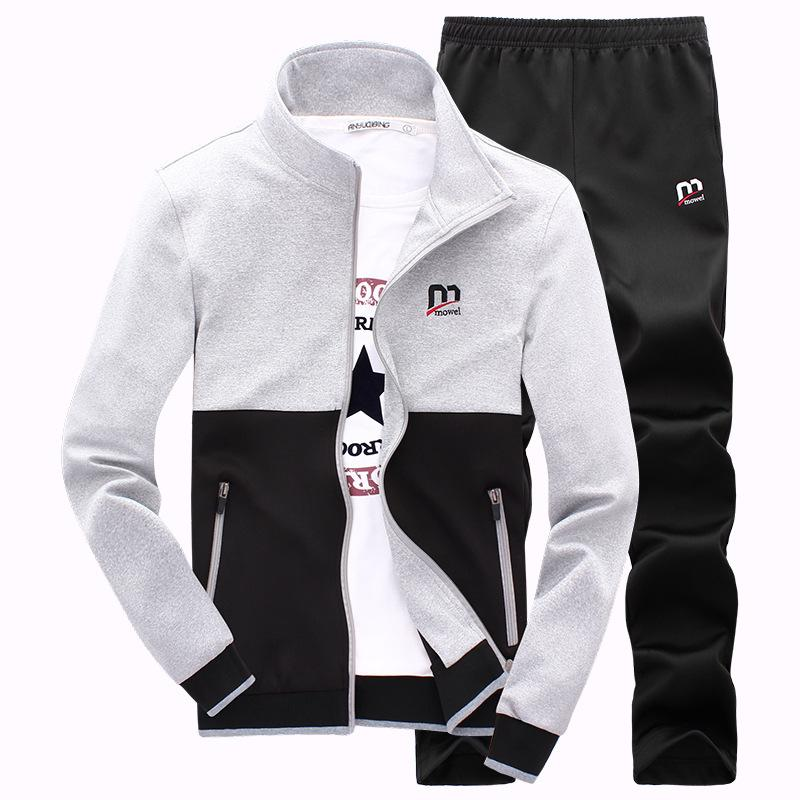 New Fashion Spring Autumn Men Sporting Suit Hoodies +Pant Sweatsuit Two Piece Set Tracksuit Set For Men Clothing