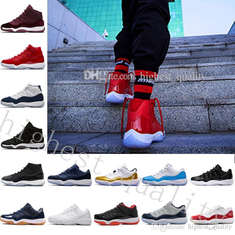 2018 Pas Cher Chaud Nouveau 11 72-10 Concord Bred Légende Bleu Gamma Bleu Espace Jam 7-8-9-10-11-12-13 Basketball Chaussures Hommes Femmes 11s GS Sneakers