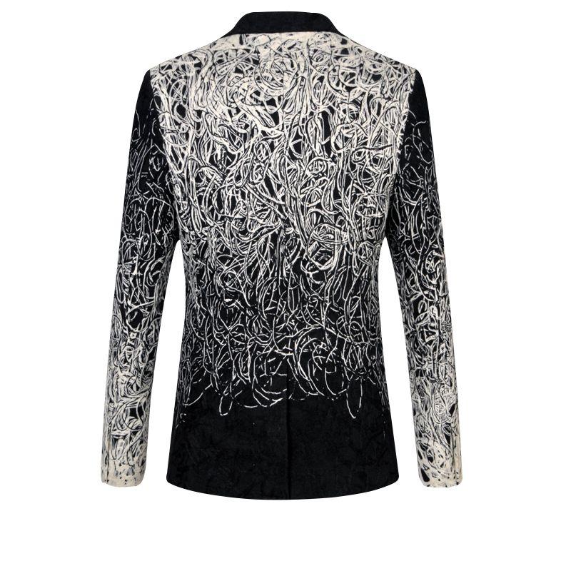 La MaxPa Fashion new brand blazers men suit jacket spring autumn casual slim fit prom groom business wedding party jacquard suit