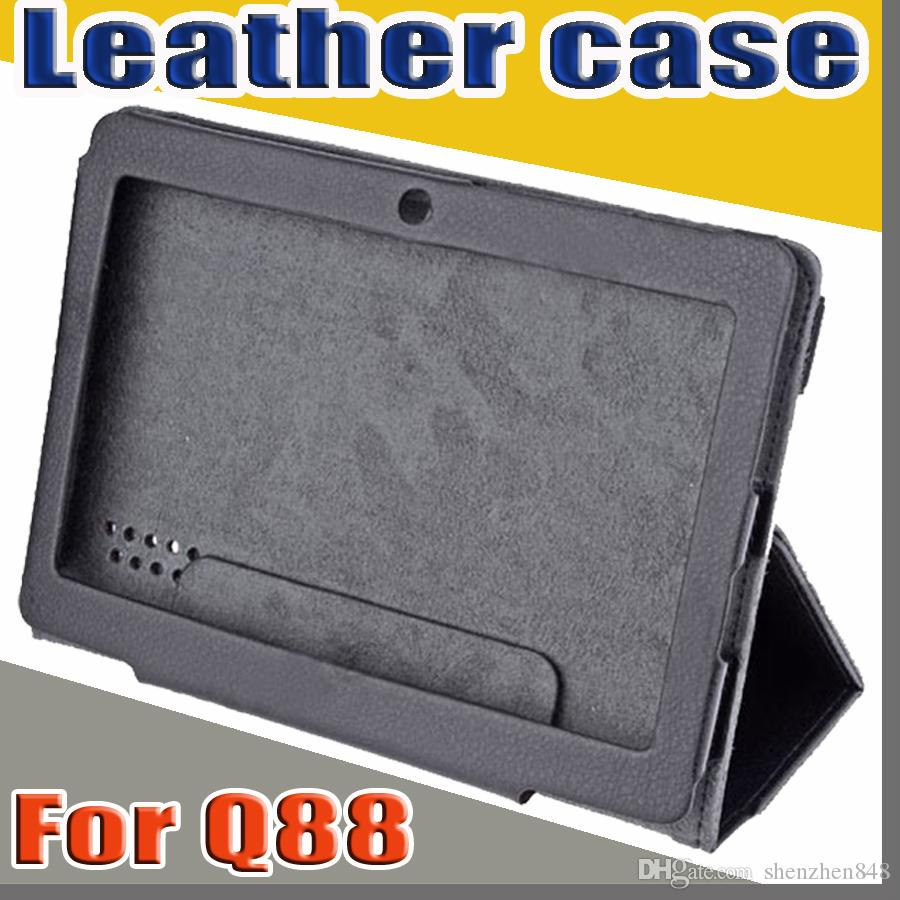 """848 colorful 7"""" flip leather case for Haipad Q88 Allwinner A13 A23 A33 Q8 7 inch tablet pc protect skin free shipping"""