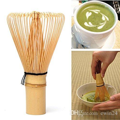 Doğal Bambu Chasen Yeşil Çay Tozu Için Hazırlanması Matcha Çırpma Tepsisi Matcha Töreni sevgililer Günü Için Fırça Aracı ...