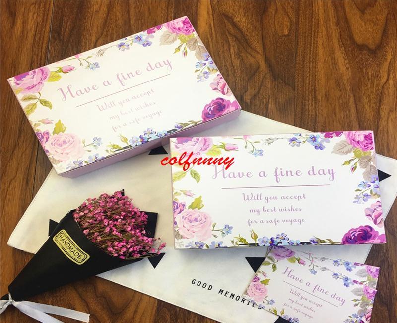 100 Fleur Avoir un beau jour Boîte De Cadeau De Mariage Grand Carton Cartons De Papier, 6 Cupcake Cookie Gâteau Au Chocolat Boîte D'emballage F052302