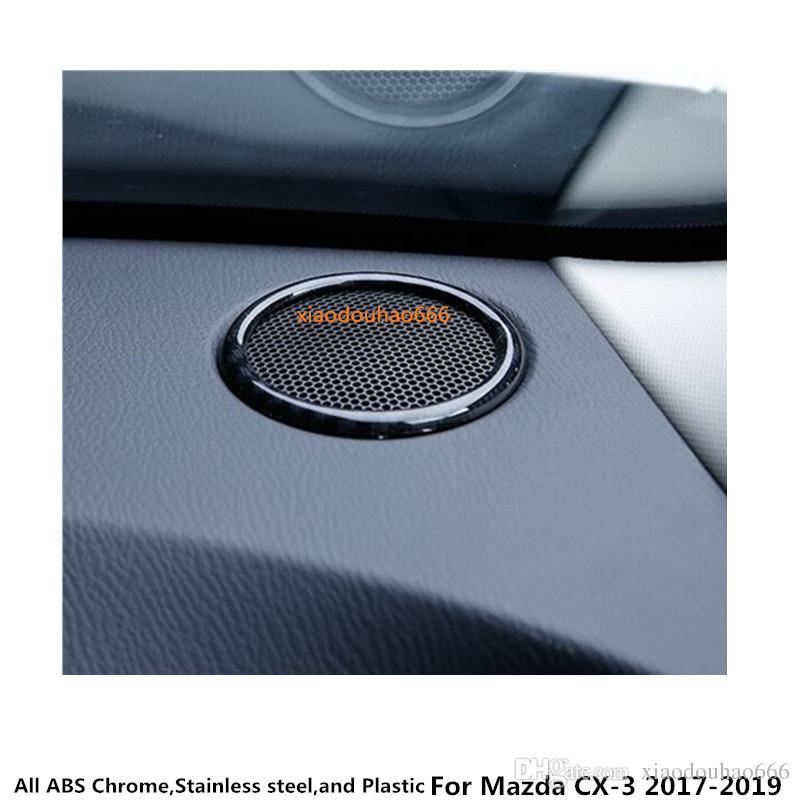 бесплатная доставка для Mazda CX-3 CX3 2017 2018 2019 стайлинга автомобилей гарнир обложка внутренняя отделка ABS хром средний звук говорить аудио Рог 2 шт.