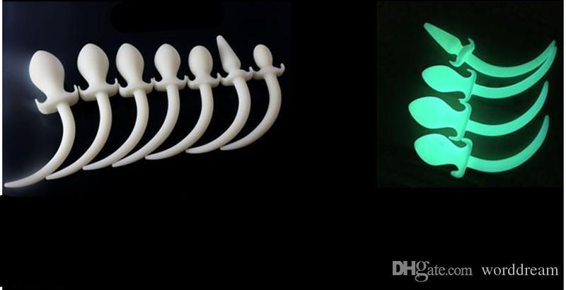 Хвостовая пробка Anus Butt Sex стимулятор, игры для собак в анальном для мужчин силиконовые рабыня, эротические игрушки для взрослых вилки Женщины и светящиеся гей Asbdj