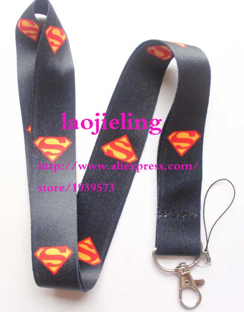 Hero Batman Superman Neck Strap Lanyard Cell Phone Rope KeyChain ID Card Cos