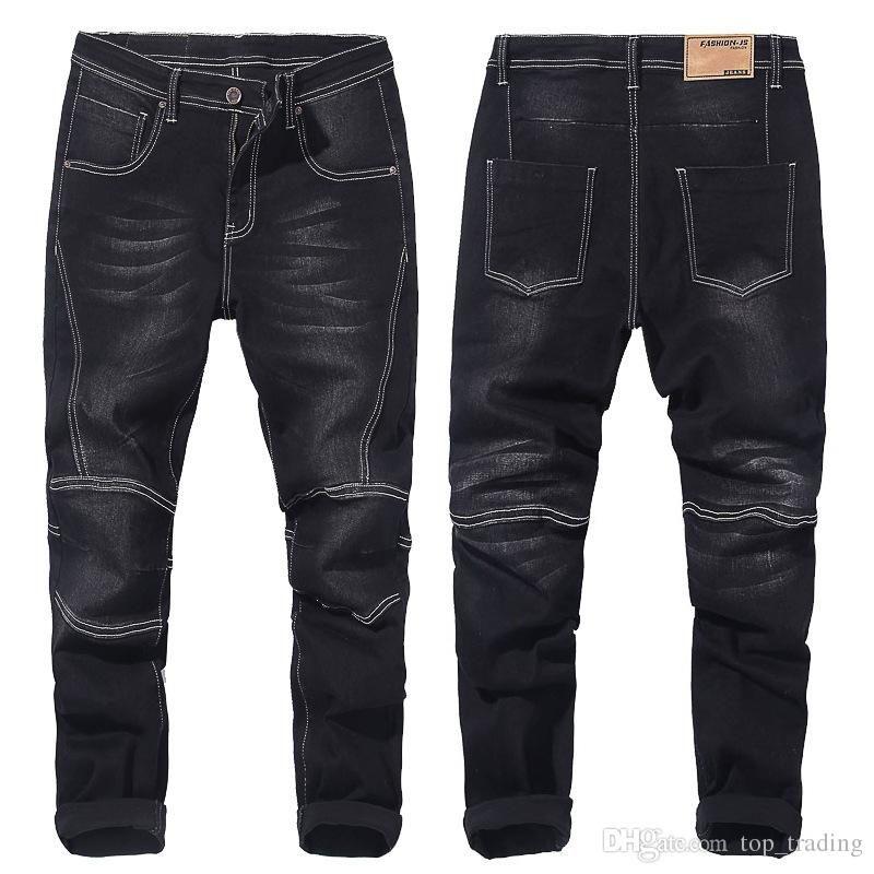 Sonbahar kış erkek büyük boy kot erkek besi artış kot mavi siyah gevşek kot şişman genç büyük adam pantolon artı boyutu 28-48 JS730