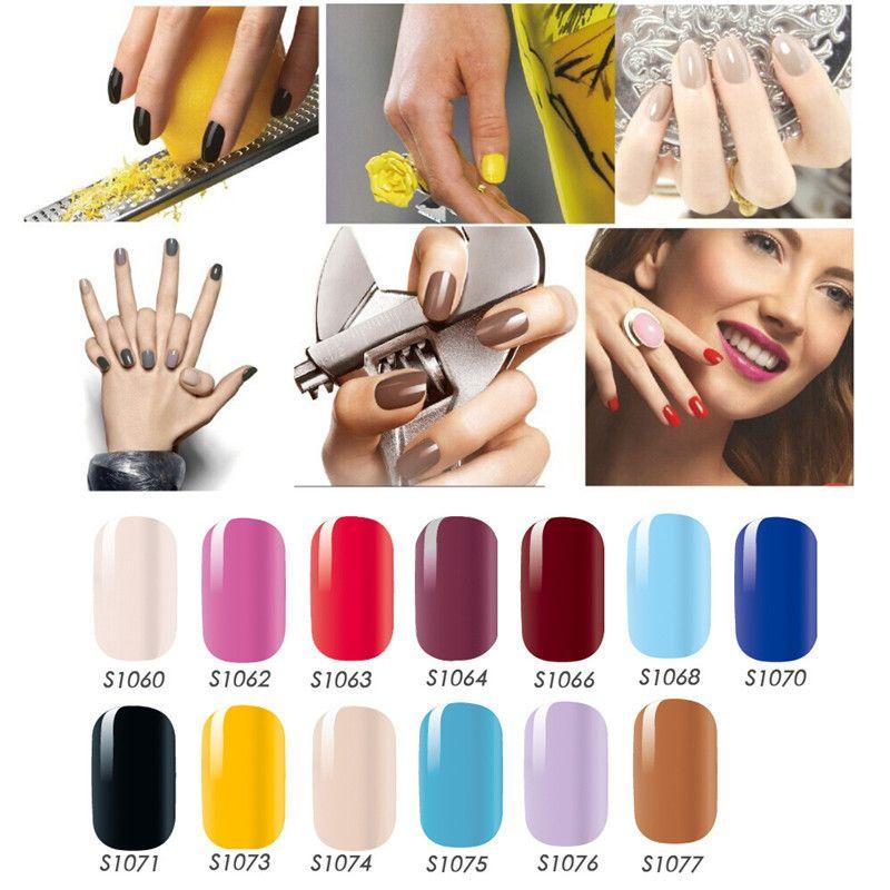 Neue 14 Tipps / Blatt reine Farbe Design Nail Wraps Full Cover Nail Art Aufkleber Dekorationen Maniküre Nail Art einfache Abziehbilder
