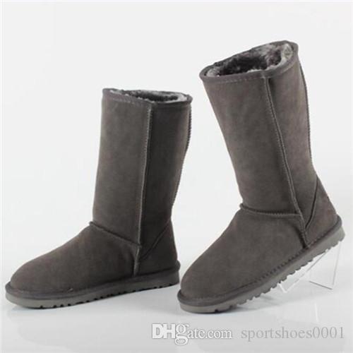 HOT 여성 부츠 디자이너 신발 호주 스타일 Ug 여성 Unisex 스노우 부츠 방수 겨울 가죽 긴 부츠 UG 브랜드 IVG