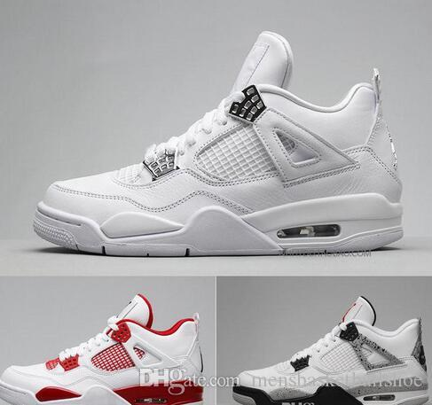 Designer 4s Mens Basketball Shoes 4s White Cement Black Red 4 Superman Fashion Sport Shoes
