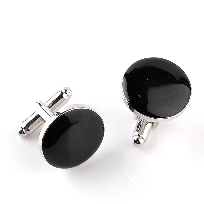 New round men's two-color cuff link fashion French cuff link fashion dress shirt accessories