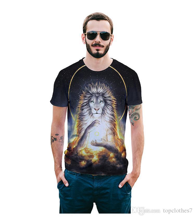 Новый Оптовая-Raisevern 3d Майка топы животные Лев король живопись печать футболка повседневная с коротким рукавом топы тройники для мужчин женщин челнока