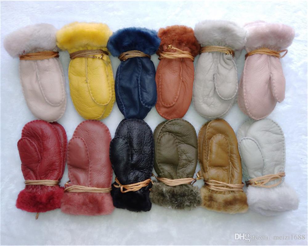 무료 배송 - 고품질 1-3 세 어린이를위한 고품질의 모직 장갑 모직 장갑 따뜻한 새끼 장갑