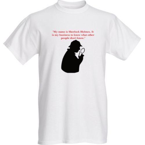 my name is sherlock holmes London England high quality custom t shirt Fashion Short Sleeve Sale 100 % Cotton