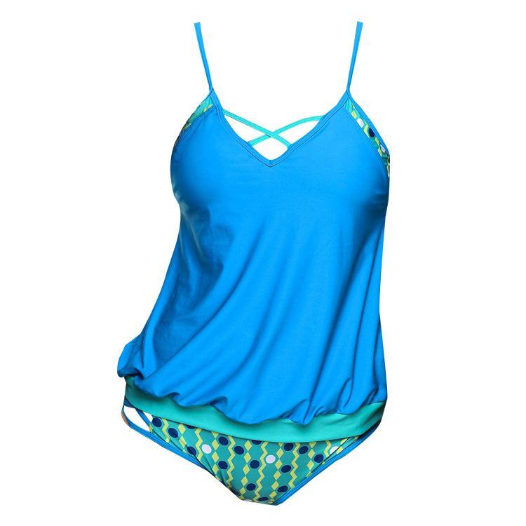 SEABBOT Newest 2 Piece Bikini Set Women's Plus Size 5XL Blue Swimwear Sexy Bandage Off the Shoulder Swimsuits Female Beachwear