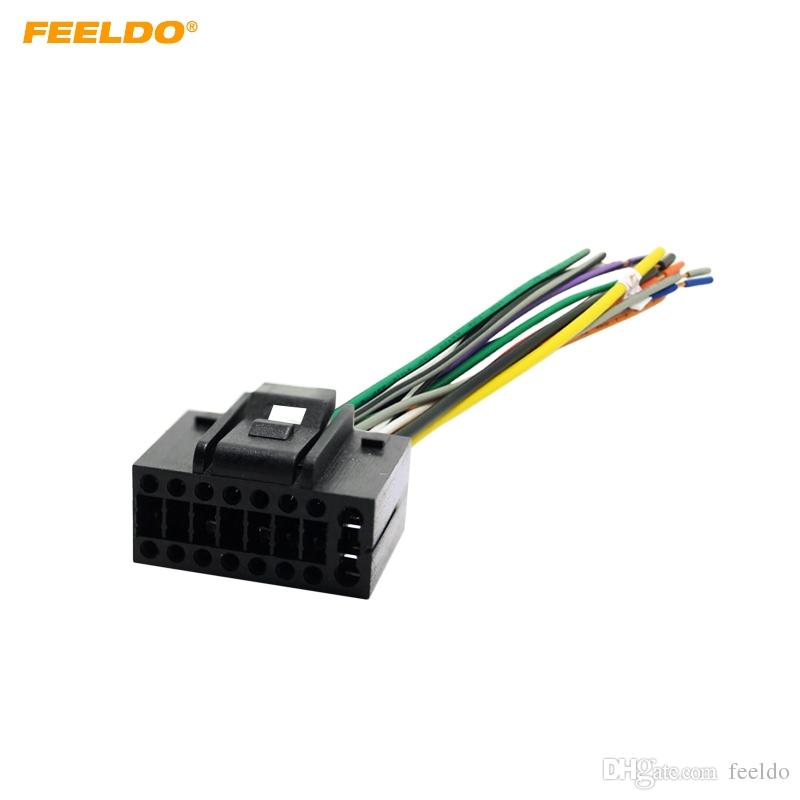 FEELDO Car Radio Stereo Wire Harness Plug Cable 16 pin Male Connector For CHEVROLET AVEO/LOVA(SEDAN)/CHERY/LANDWIND #3458