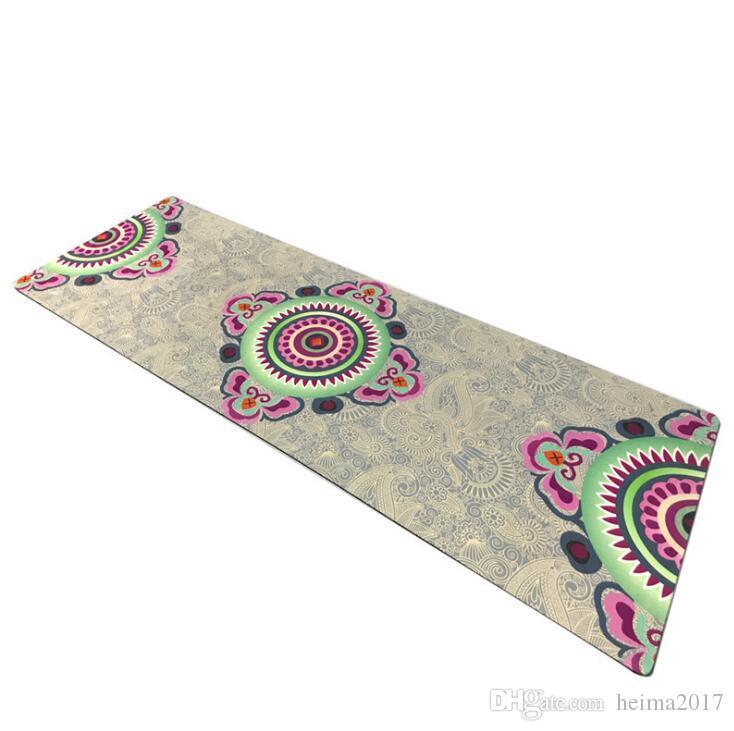 Qualität Yoga-Matte Fitness Gymnastikmatte Mode gute Qualität rutschfeste Wildleder Gummimatte Fabrik direkt