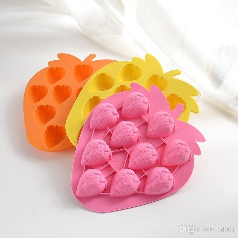 Household Silicone Mold Fruit Strawberry Grape Fish Bone Shape Baking Moulds Chocolate Cake Ice Cube Tray Durable 1 7hy BB