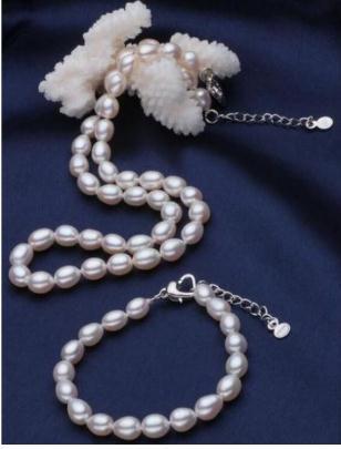 Оптовая 10-11 мм Южное море белый жемчуг ожерелье 18 дюймов бесплатный браслет 7,5-8 дюймов S925 Серебряный Застежка