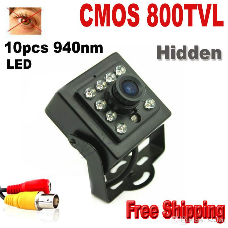 """HQCAM 800TVL 10PCS 940NM أدى ليلة الرؤية الكاميرا 1/3 """"اللون المكمل HD عالية الدقة عدسة 3.6mm CCTV الأمن كاميرا مصغرة"""
