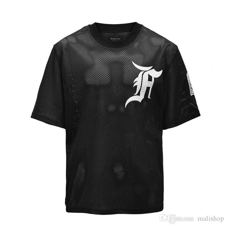 Surdimensionné livraison maille maille manches courtes homme Tshirt T Sports T Shirts Plus Size Black Street Mens Tops