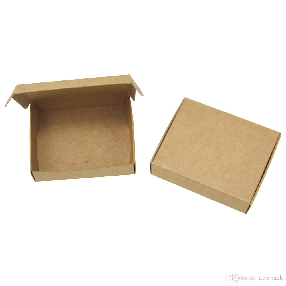 25Pcs 13*9.5*3cm Handmade Soap Candy Chocolate Packaging Decoration Kraft Paper Boxes