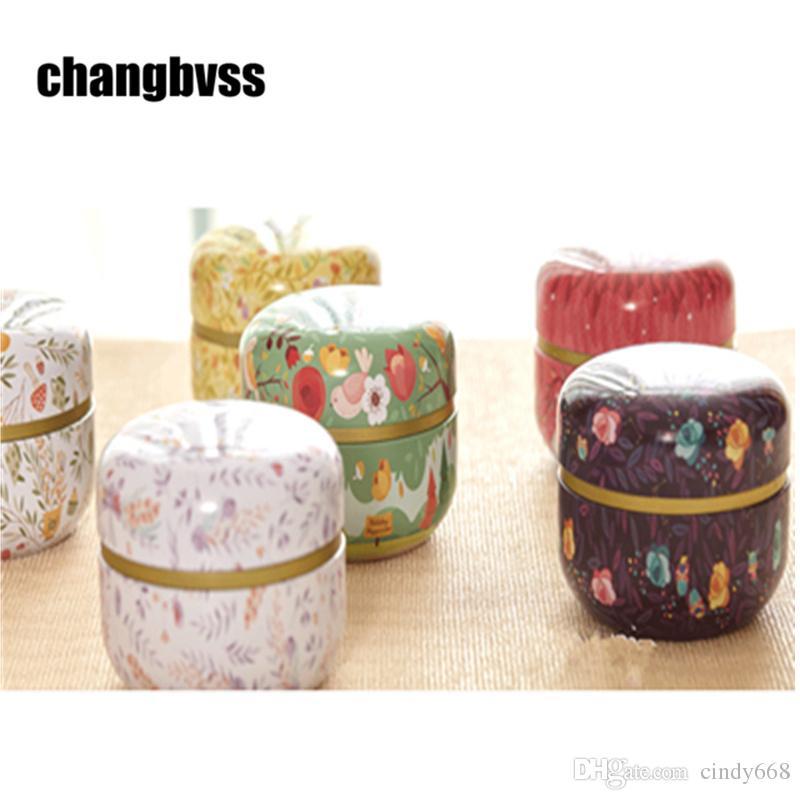 European Style Tea Caddy Candy Storage Box Tea Sugar Coffee Spice Jars Jewelry Box Wedding Favor Tin Box Kitchen Organizer Jar