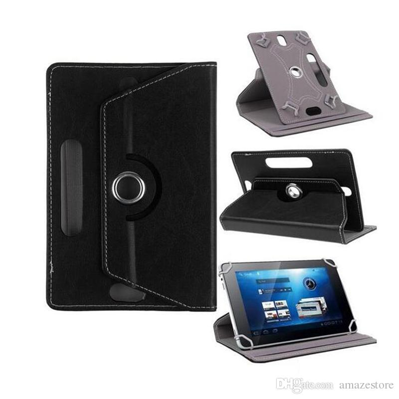 Universal Cases for Tablet 360 Degree Rotating Case 10 PU Leather Stand Cover 7 inch Fold Flip Covers Built-in Card Buckle for Pad Mini