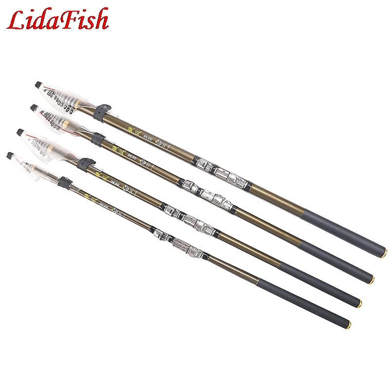 2.7m / 3.6m / 4.5m / 5.4m / 6.3m Canne à pêche M Power 98% Carbone Canne à Pêche Télescopique Carp Rock Rod Spinning Rods